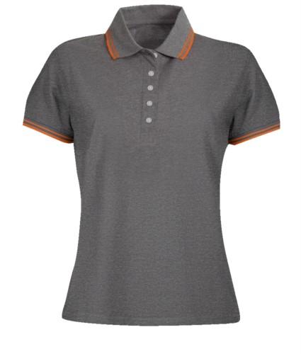 Bicolor short sleeve polo