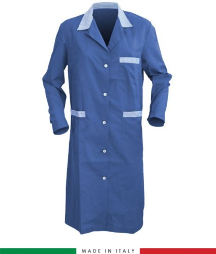 Royal Blue long sleeved work gown