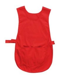 Cloak with central pocket, side adjustment with snap buttons, color Red