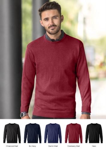 Crew neck pullover for men