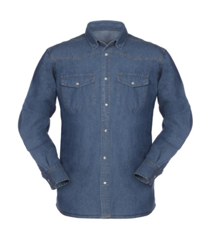 men long sleeved jeans work shirt 100% cotton