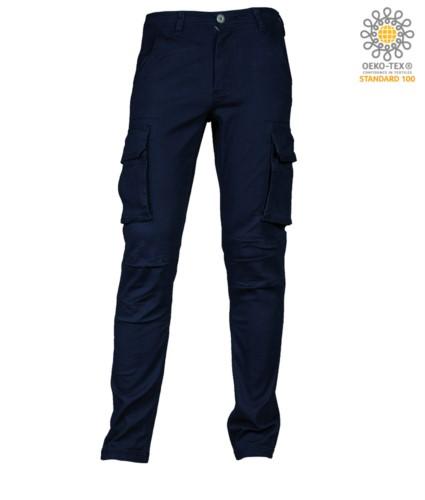 Elasticated Multi Pocket Trousers
