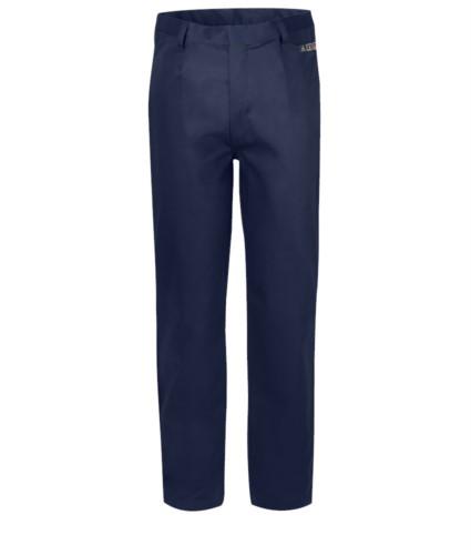 Multipro trousers, classic model, multi-pocket EN 11611, EN 1149-5, EN 13034, CEI EN 61482-1-2:2008, EN 11612:2009,colour blue