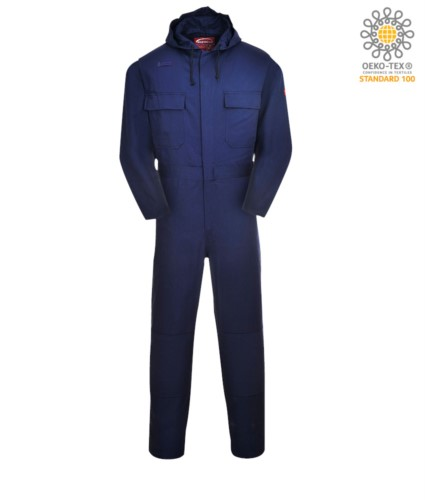 FLAME RESISTANT HOODED COVERALL