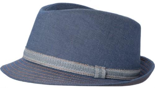 Chef hat, contrasting band outline, color denim
