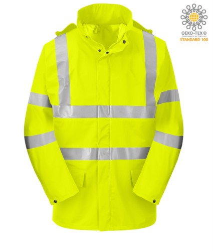 High visibility fire-resistant jacket