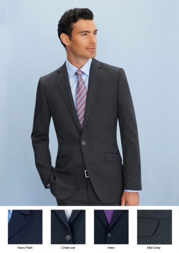 Elegant man jacket for elegant work uniform. Polyester and wool fabric, crease resistant. 2 button closure. Two side pockets. Get a free quote.
