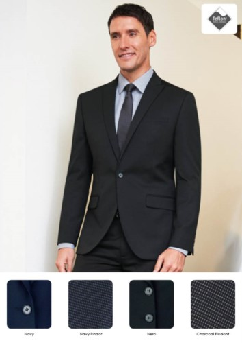 Men's jacket in polyester and viscose with 2-button closure. Ideal for porter, hotel and receptionist uniforms. Get a free quote.