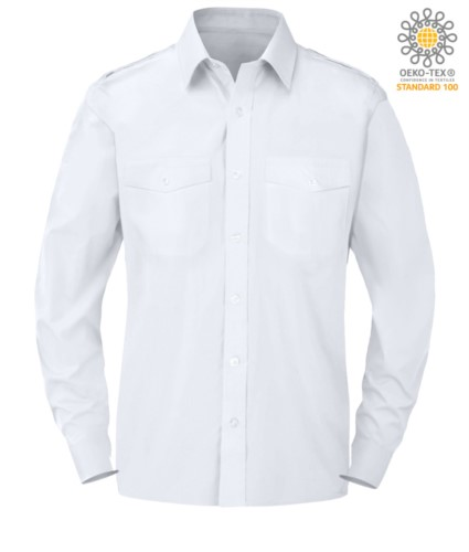 elegant men long sleeved shirt white color button down