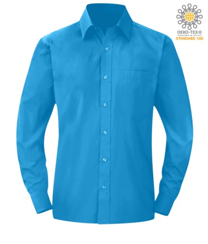 men long sleeved shirt Light Blue color for professional use