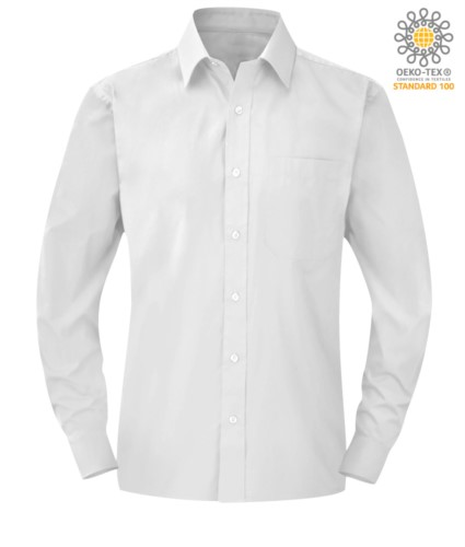 men long sleeved shirt White color for professional use