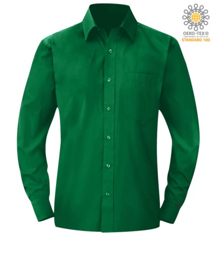 men long sleeved shirt Kelly Green color for professional use