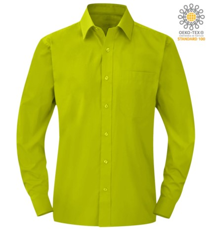men long sleeved shirt Lime color for professional use