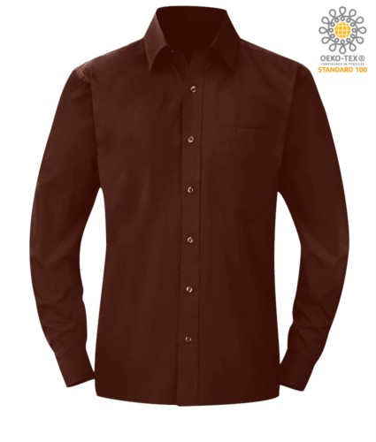 men long sleeved shirt Brown color for professional use