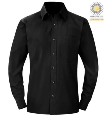 men long sleeved shirt Black color for professional use
