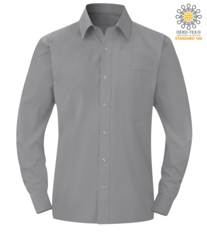men long sleeved shirt Silver color for professional use