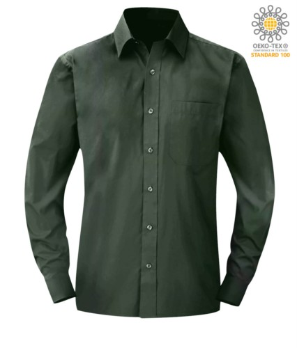 men long sleeved shirt Green color for professional use
