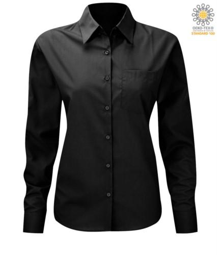 women long sleeved shirt for work uniform Black color