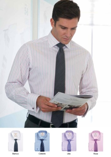 Elegant uniform shirt, 100% cotton fabric with easy iron features. Single cuff for cufflinks.
