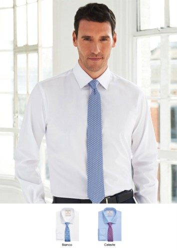 Men shirt for elegant work uniform. 100% cotton fabric with easy iron catalyst. Ideal for uniforms of porter, hotel, receptionist.