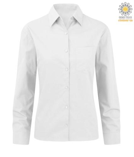 elegant shirt color white women 100% cotton