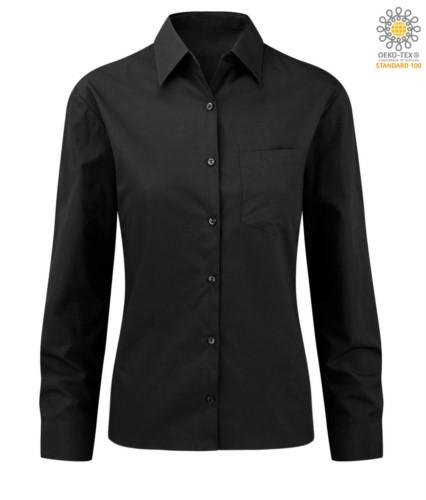 elegant shirt color Black women 100% cotton
