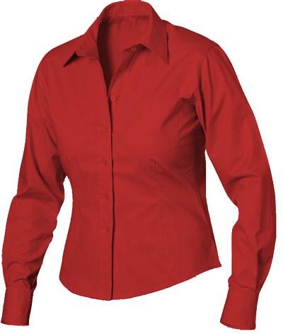elegant shirt color Red women 100% cotton