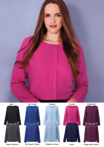 Elegant polyester women's shirt, available in 10 colours. Ideal for receptionists, hostesses, hoteliers. Get a free quote