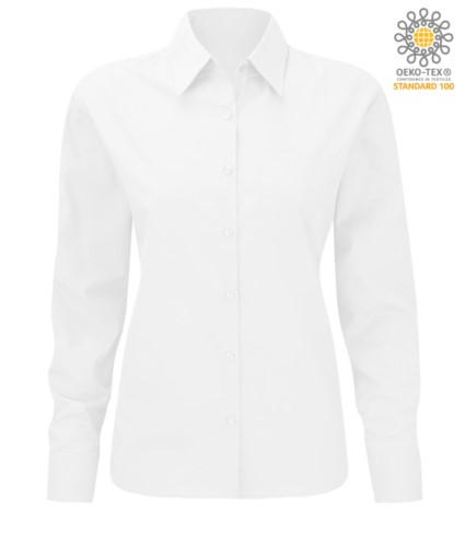 white women long sleeved polyester and cotton shirt