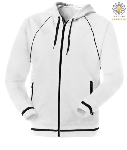 Long zip hooded sweater