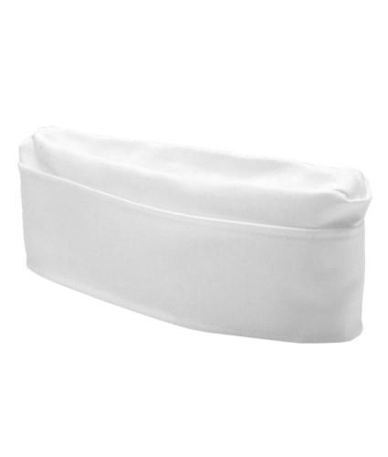 Cook hat with headgear and cotton band, color white