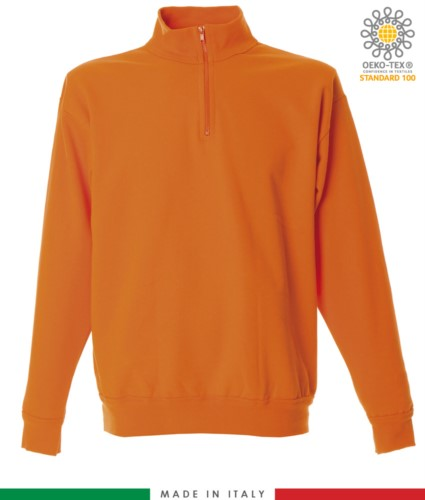 Made in Italy short zip sweater
