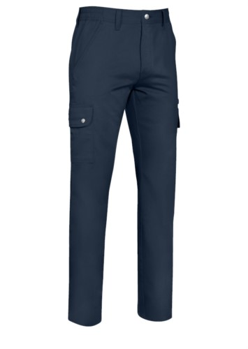 Multi-pocket stretch trousers