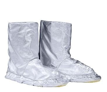 Proximity boots, para-aramid sole, abrasion resistant, silver colour, certified EN 11612:2009