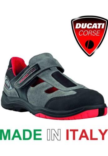 Pierced leather sandal S1P Ducati racing
