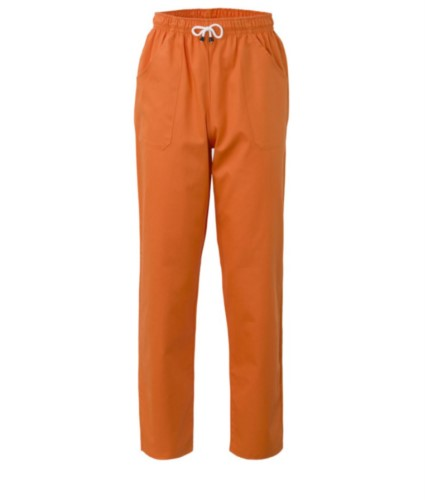 Trousers with contrasting two tone details on the pockets. Colour: orange