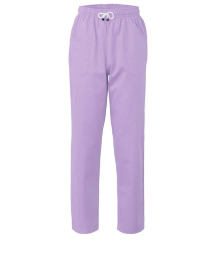 Trousers with contrasting two tone details on the pockets. Colour: lilac