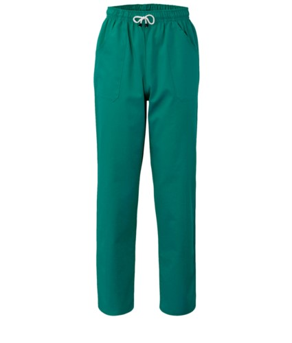 Trousers with contrasting two tone details on the pockets. Colour: green
