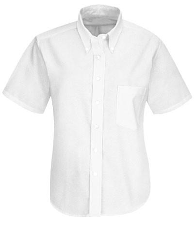 white women shirt uniform button down short tip