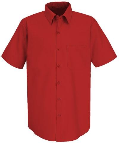 men shirt short sleeve color Red 100% cotton