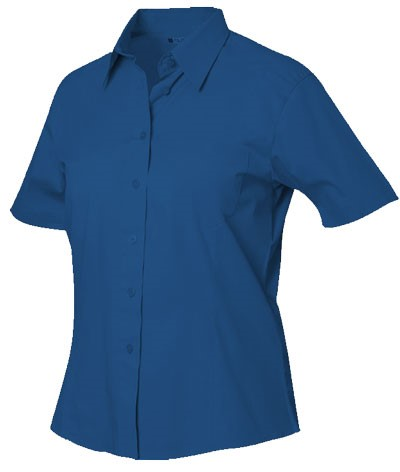 men shirt short sleeve color blue 100% cotton