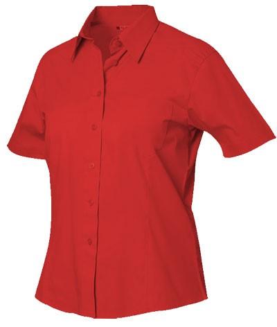 women short sleeved shirt Red 100% cotton