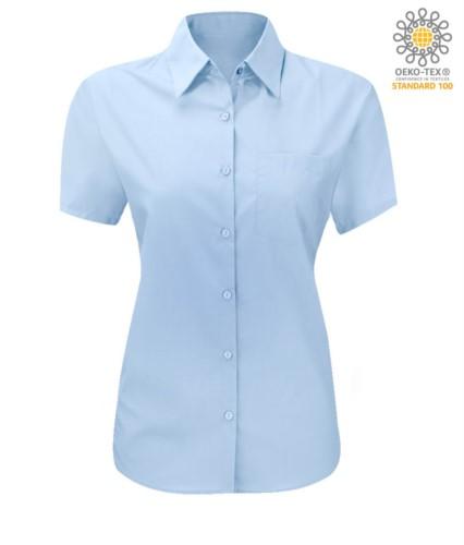 women shirt with short sleeves blue royal