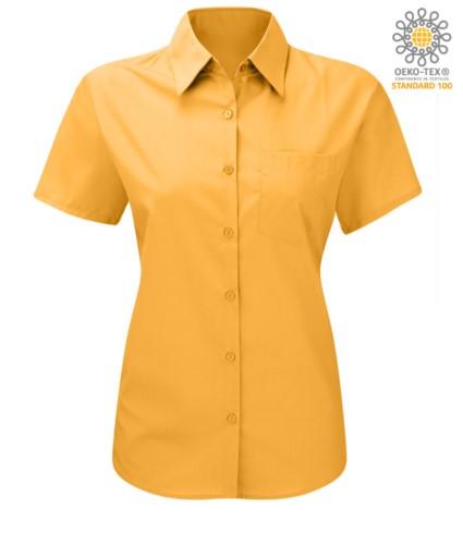 women shirt with short sleeves Yellow