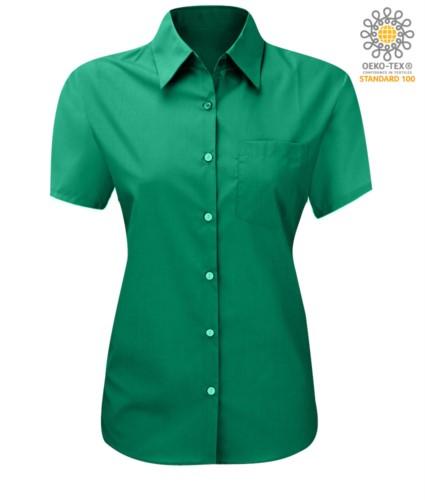women shirt with short sleeves Green