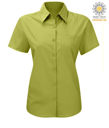 women shirt with short sleeves for work Lime