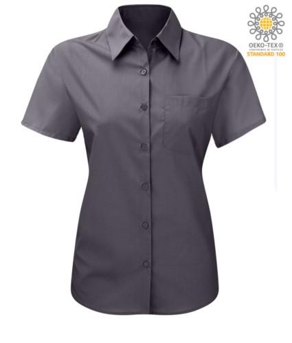 women shirt with short sleeves for work Dark Grey