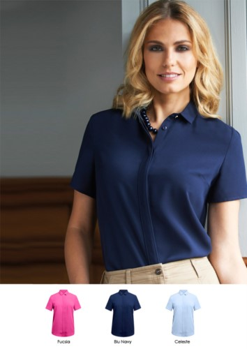 Elegant shirt for uniform ideal for receptionists, hostesses, hoteliers. Fabric 100% polyester. Get a quote
