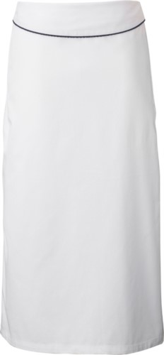 Cook apron with flap. Color  white/black