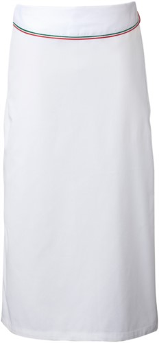 Cook apron with flap. Color  white/tricolor